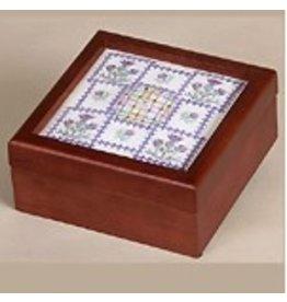 "Sudberry House Simply Square Box w/s 5"" x 5"" design - mahogany"