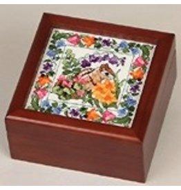 Sudberry House Simply Square Box w/s 4&quot; x 4&quot;<br />design - mahogany