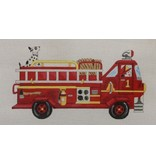Alice Peterson Fire Engine w/Dalmation