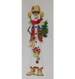 Strictly Christmas Cowboy snowman holding tree<br />