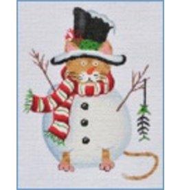Danji Snowman Cat<br />5&quot; x 5&quot;