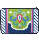 Alice Peterson Navy/lime abstract cosmetic case