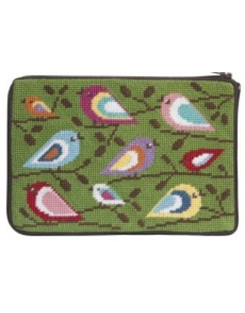 Alice Peterson Birds of Color cosmetic case