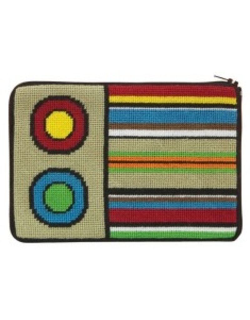 Alice Peterson Stripes and Circles Cosmetic Bag
