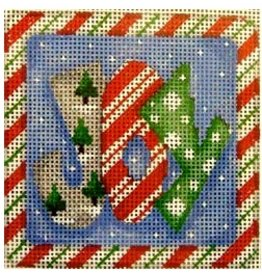 Associated Talent Joy Candy Cane Border - Ornament/Coaster<br />