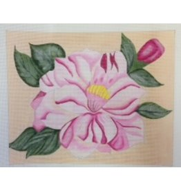 BB Needlepoint Design Red &amp; White Camellia<br />