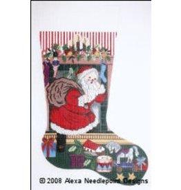 Alexa Stocking with Santa & Toys