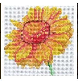 Jean Smith Designs Blanket Flower  <br />4&quot;x4&quot;
