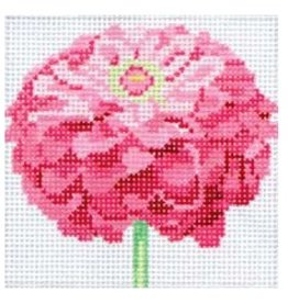 Jean Smith Designs Pink Zinnia<br />4&quot;x4&quot;