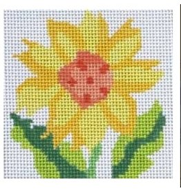 "Jean Smith Designs Simple Flower Coaster - Sunflower 4""x4"""