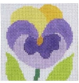 Jean Smith Designs Simple Flower Coaster - Pansy<br />