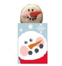 Kathy Schenkel Snowman Treat Bag w/Snowman ornament