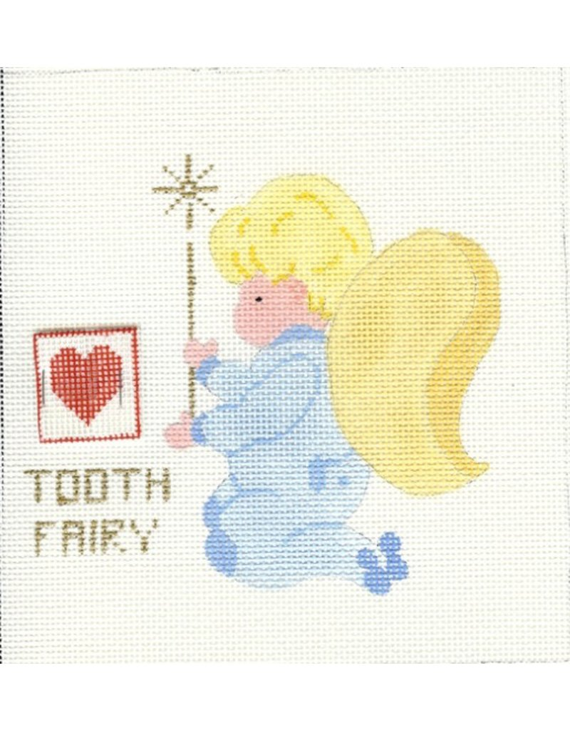 All About Stitching Little Boy Angel Tooth Fairy<br />8&quot; x 8&quot;