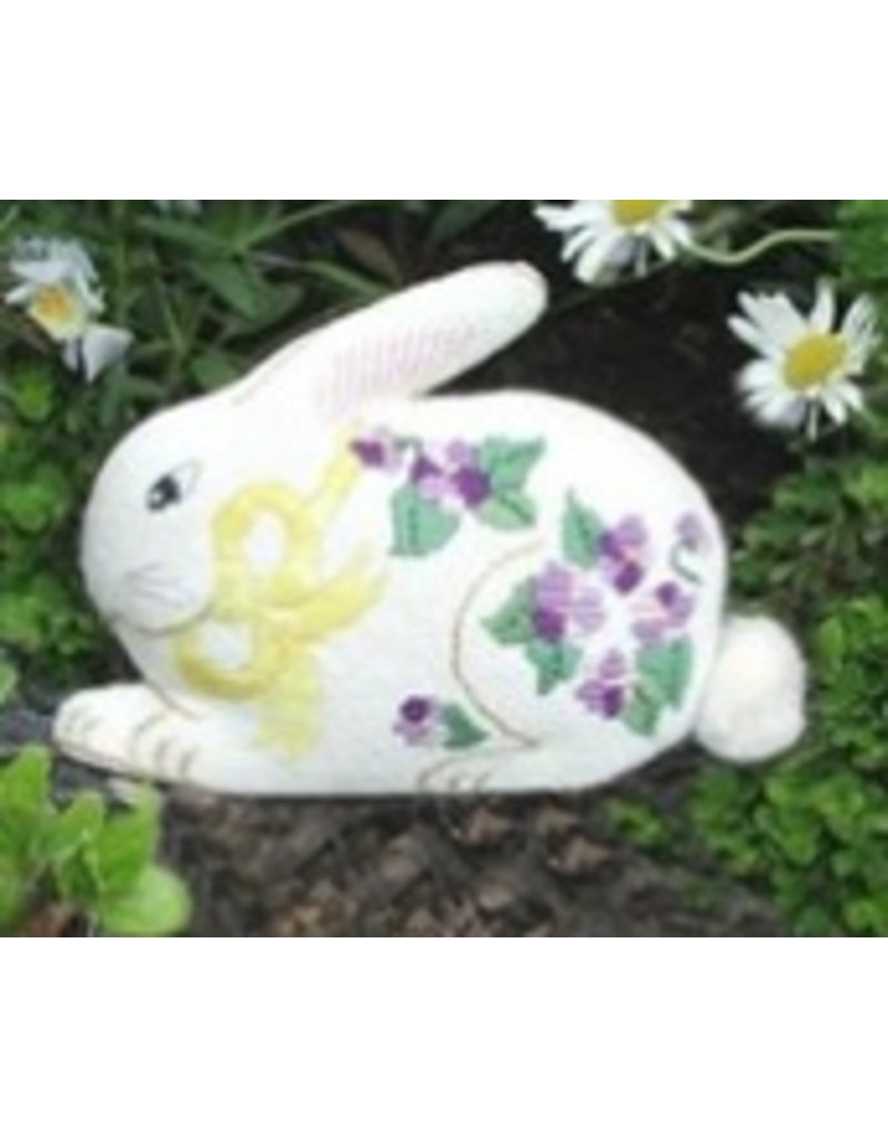 All About Stitching Bunny w/Violets<br />