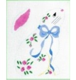 All About Stitching Long Eared Bunny Rosebud<br />8&quot; x 5&quot;