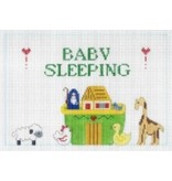 All About Stitching Baby Sleeping ~ Noah&#039;s Arc<br />5&quot; x 7.5&quot;