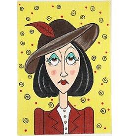 Elizabeth Turner Penelope w/Hat<br />7.5&quot; x 10.5&quot;