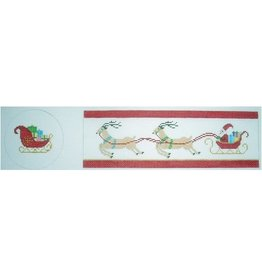 Julia Santa, Sleigh &  Reindeer hinged box