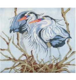 Melissa Prince Blue Herons Nesting<br />10&quot; x 10&quot;