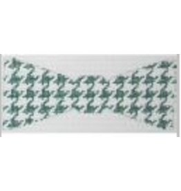 Julia Bow Tie - Green Houndstooth