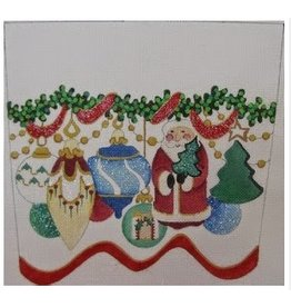Strictly Christmas Santa with Ornaments Stocking Cuff