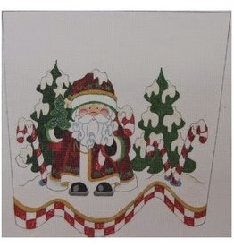 Strictly Christmas Santa & Trees Stocking Cuff