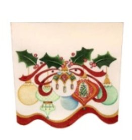 Strictly Christmas Ornaments & Holly Stocking Cuff