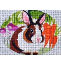 Melissa Prince Bunny w/Vegatable<br />5&quot; x 4&quot; Oval