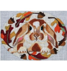 Melissa Prince Fall Bunny<br />5&quot; x 4&quot; Oval
