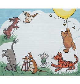 Barbara Russell Pooh Birth Sampler<br />