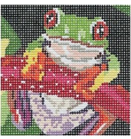 Barbara Russell Frog Coaster - 2<br />4&quot; x 4&quot;