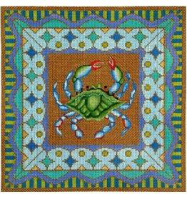 Amanda Lawford Crab pillow<br />11&quot; x 11&quot;