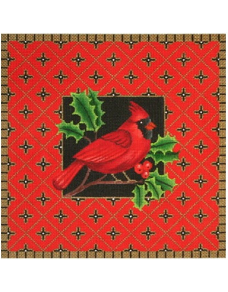 Amanda Lawford Cardinal with Holly<br />12&quot; x 12&quot;