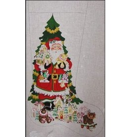 Strictly Christmas Santa in front of the Christmas Tree Stocking