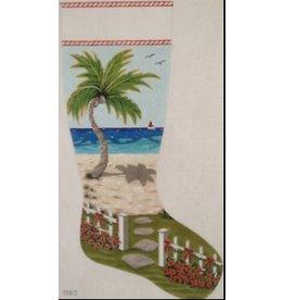 Purple Palm Designs Seaside Christmas stocking