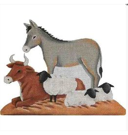 Rebecca Wood Nativity Animals - cow, donkey &amp; sheep<br />