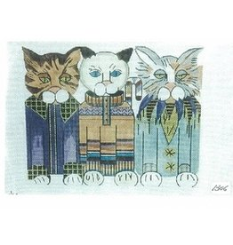 All About Stitching Three Cats