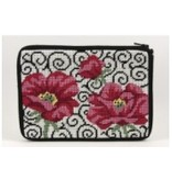 Alice Peterson Poppies on Scroll Cosmetic bag