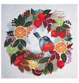 Melissa Prince Robin in Wreath<br />