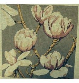 Quail Run Magnolia buds w/tan background<br />12&quot; x 12&quot;