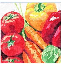 Jean Smith Designs Vegetables<br />14&quot; x 14&quot;