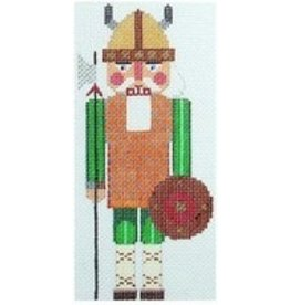 Julia Viking Nutcracker Rollup Ornament<br />5.25&quot; x 3.35&quot;