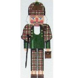 Julia Sherlock Holms Nutcracker Rollup Ornament<br />5.25&quot; x 3.25&quot;