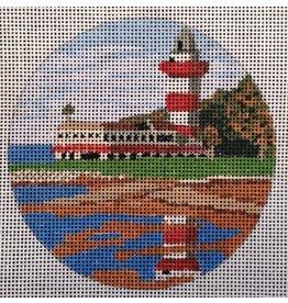Purple Palm Designs Harbour Town Lighthouse- Ornament<br />4&quot; Round