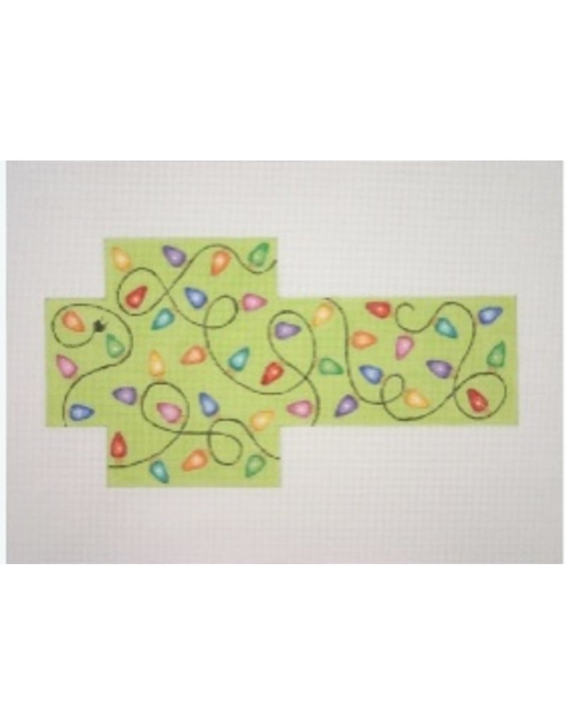 A Collection of Designs Christmas Package / Green w/lights<br />3.75&quot; x 3.75&quot; x 1.25&quot;