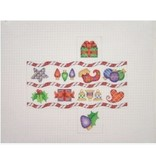 A Collection of Designs Christmas Package / Candy Cane Stripes / Heart, Star, Package<br />1.75&quot; x 3.50&quot; x 1.75&quot;