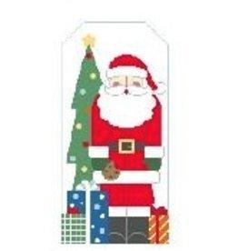 Kathy Schenkel Santa w/Toy Bag<br />11&quot; x 5.5&quot;