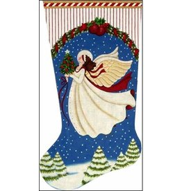Melissa Shirley White Angel  Stocking<br />