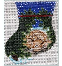 "Julie Mar Wildlife Mini Stocking - Sleeping Fawn - 5"" long"