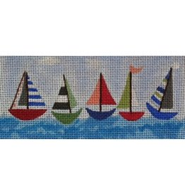 BB Needlepoint Design Sailboat Dog Collar